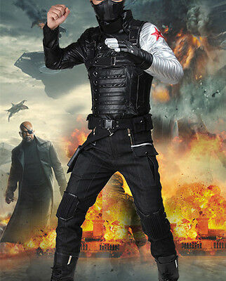 Captain America 2 Winter Soldier cosplay Kostüm James Buchanan Buck Barnes Maske