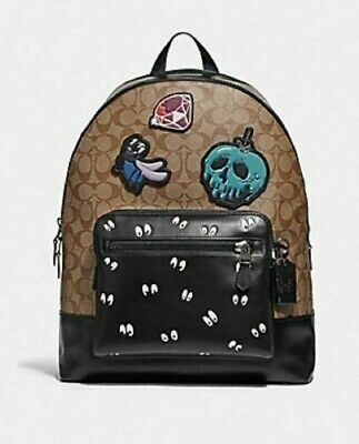 Coach Disney X Large Leather Backpack Snow White & The Seven Dwarfs Collection ⭐