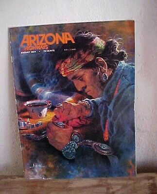 AZ HIGHWAYS AUGUST,1974-SUPERB SOUTHWEST JEWELRY ISSUE-CHARLES LOLOMA FEATURE