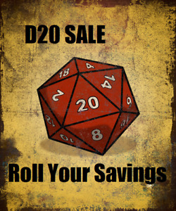 Roll a d20 and save some money! Video game savings event!