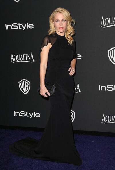 Abendrobe statt FBI-Ausweis: Gillian Anderson in Los Angeles (David Livingston/Getty Images)