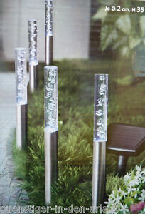 5 x solar gartenstecker s ulen deko lichter garten solarlampe solarstecker. Black Bedroom Furniture Sets. Home Design Ideas