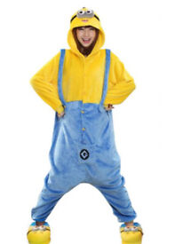 MINION MINIONS DESPICABLE ME POLAR ONESIE FANCY DRESS DRESSING UP OUTFIT