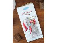 Personalised 'me to you- Christmas' chocolate bar