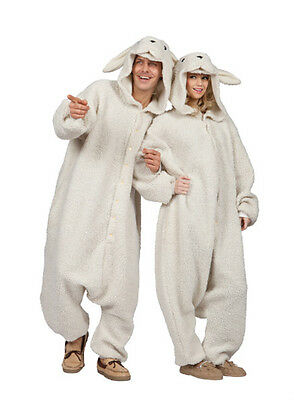 Sheep Costumes (ADULT OLLIE THE SHEEP BA BA LAMB GOAT FARM ANIMAL PAJAMAS COSTUME JUMPSUIT)