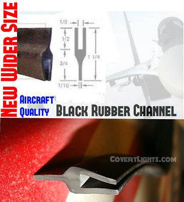 U Channel for Visor or Dash Lights Helps with flashback 4 foot length Rubber