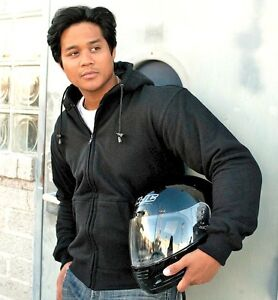Kevlar motorcycle jacket with armour. Hoody style