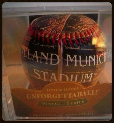 (Cleveland INDIANS Baseball Municipal Stadium With Acrylic Display Case MLB New)