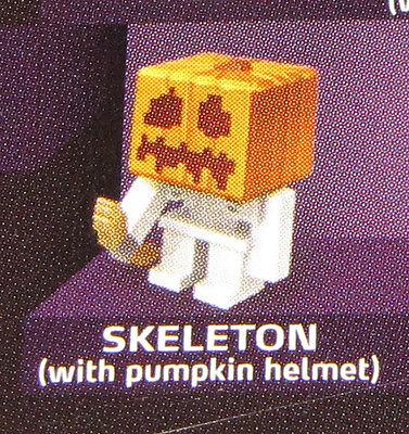 Sealed SKELETON Halloween Pumpkin Helmet MINECRAFT Series 4 Single - Halloween Minecraft