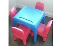 Early Learning Centre ELC kids table and chairs