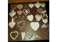 24 x Beautiful wall hearts