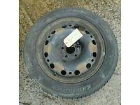 WHEEL R1/R2/R3/R4 MK2 SKODA FABIA VW POLO SEAT IBIZA 15 INCH STEEL WHEEL WITH TYRE 195/55/R15 5x100