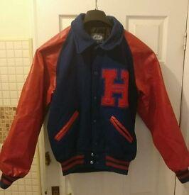 Red & Midnight Blue Vintage Varsity Jacket