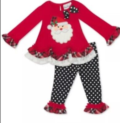 Santa Outfit For Girls (Girls Holiday Two Piece Outfit, By Rare Editions, Christmas Santa Size 18M -)