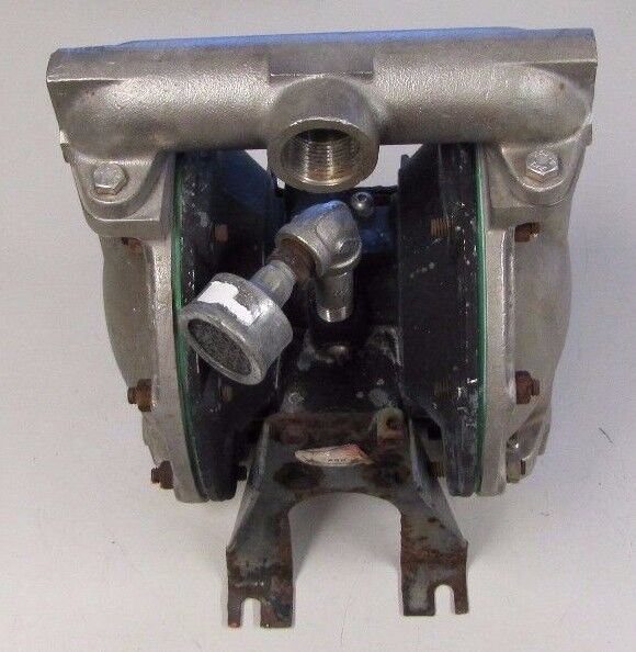 """ARO INGERSOLL-RAND 1"""" NPT IN & OUT STAINLESS FLOW ALUMINUM AIR DIAPHRAGM PUMP"""
