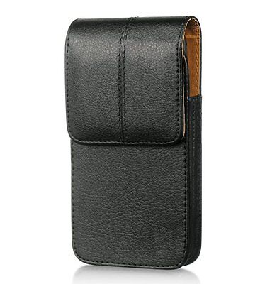 for Samsung Galaxy S4 / S5 / S6 /S7 - BLACK Leather Pouch Be