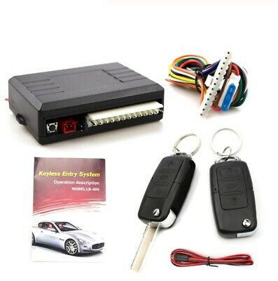 Universal Car Alarm System Auto Door Remote Central Kit Door Lock LED Key Chain Keychain Remote Kit