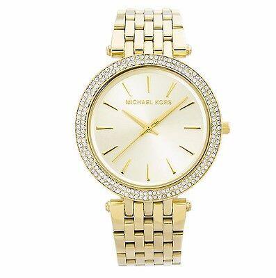Michael Kors MK3191 Darci Gold Tone Dial Pave Bezel Ladies Wrist Watch