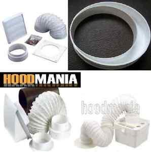 5 4 Ventilation Vent Duct Reducer Adaptor Cooker Hood Bathroom Extractor Kit Ebay