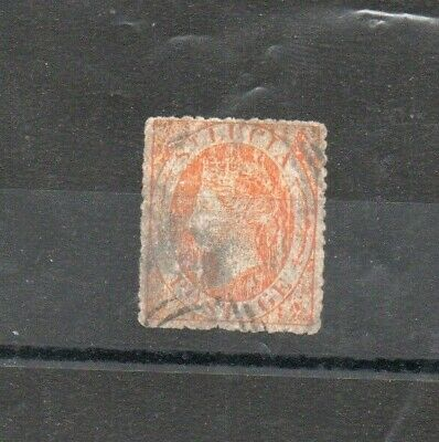 A very old St Lucia pale orange Victorian issue