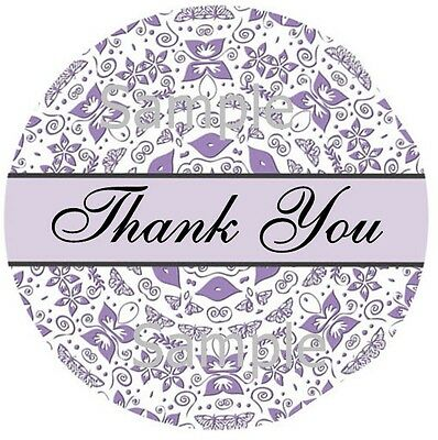 Thank You Stickers Butterfly Swirls 93 1 Inch Sticker Seal Labels