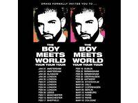 2 x Drake Concert Tickets 1st Feb 2017 London O2 Arena
