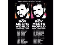 2 Drake Tickets Feb 22 Birmingham Barclaycard Arena GREAT SEATS