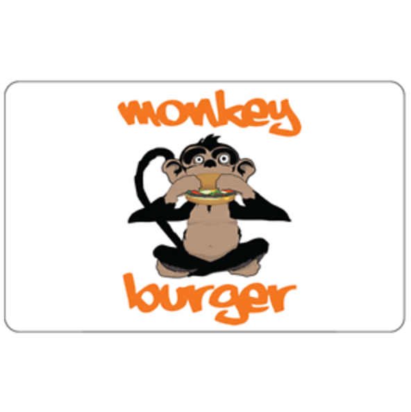 Monkey Burger Gift Card - 25 50 Or 100 - Email Delivery - $25.00