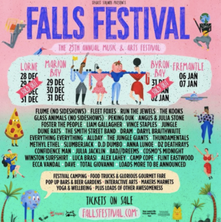 4 Day Falls Festival Ticket + Camping