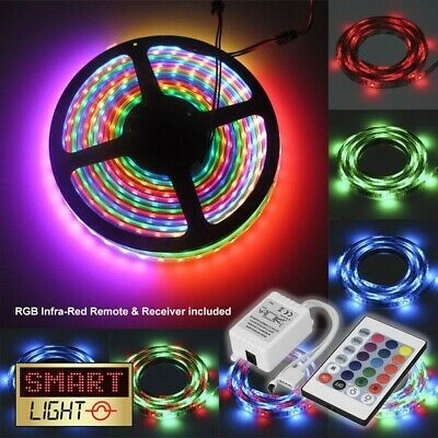5-20M 300 LED 3528 5050 SMD 12V RGB Music Activated Waterproof Strip Light Tape