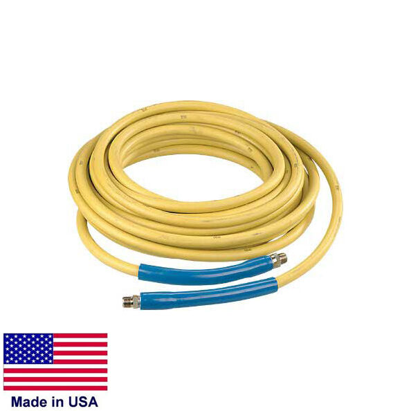 """PRESSURE WASHER HOSE ASSEMBLY - 3/8"""" - 4000 PSI Rated - 50 Ft - Quick Couplers"""