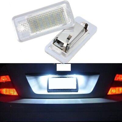 LED License Number Plate Lights for Audi A3 8P A4 S4 B6 B7 A6 4F A8 4E 4H Q7 4L