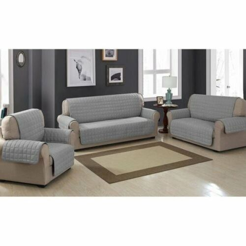 1/2/3 Seats Qulited Reversible Pet Dog Couch Sofa Furniture