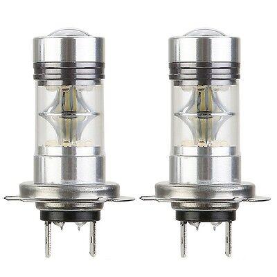 1X H7 100W CREE LED Fog DRL Driving Car Head Light Lamp Bulbs White Super Bright