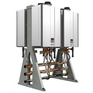 NEW RINNAI NG WATER HEATER 4 UNIT - 118027054 - INTERIOR 4 UNIT FREESTANDING NATURAL GAS TANKLESS COMMERCIAL HEATERS ...