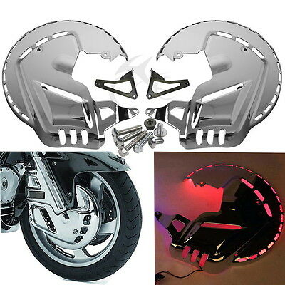 Front Ring of Fire Brake Disc Rotor Covers led For Honda Goldwing GL1800 01-11