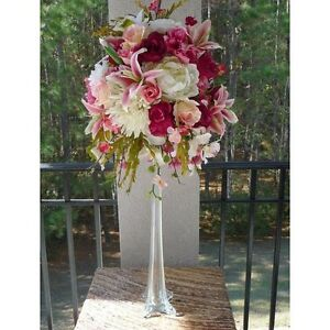 Tall Tower Vases Centerpiece White Clear Black 12 16 20 24