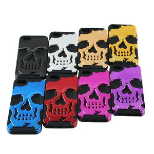 Hybrid-Skull-Skeleton-Bone-Hard-Soft-Silicone-Case-Cover-For-Apple-iPhone5-th-5S