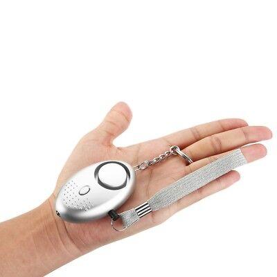 2 Stücke 130dB Personenalarm Schlüssel Anhänger Panikalarm Taschenalarm Silber