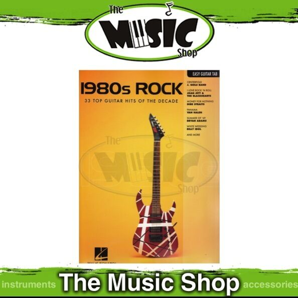 New 1980s Rock Music Book for Easy Guitar with Notes & Tablature