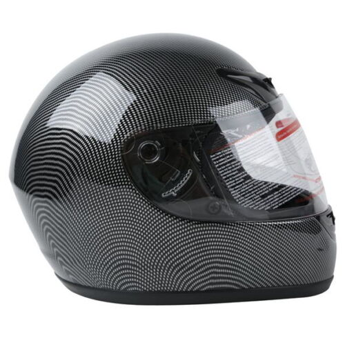 New Adult Carbon Fiber Flip Up Full Face Motorcycle Helmet Street Bike S~XXL