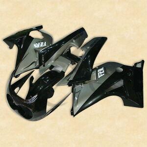 Black Gray ABS Plastic Bodywork Fairing Cowl Kit For YAMAHA FZR 250 2KR 86-88 87