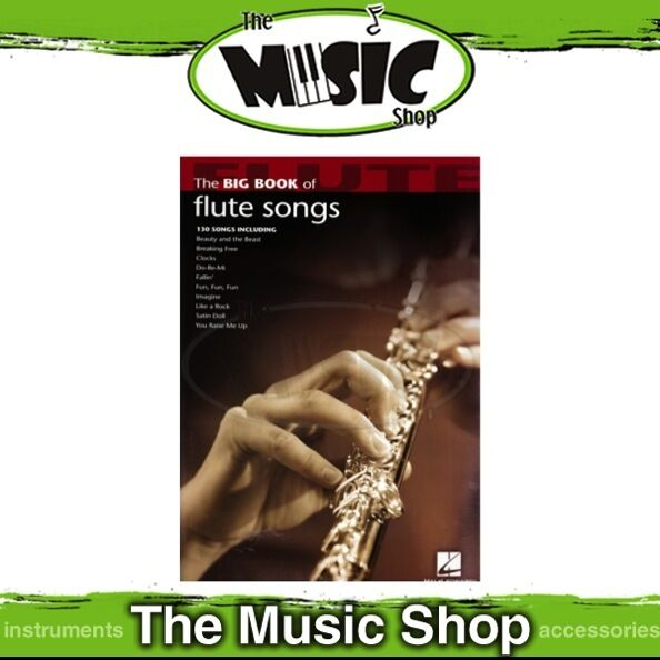 New The Big Book of Flute Songs Music Book - 130 Titles!