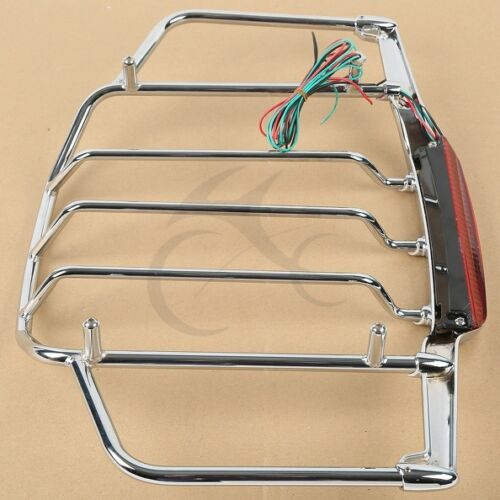 Chrome Luggage Rack With Light For Harley Air Wing Tour