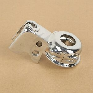 Chrome Clutch Lever Mount Bracket Perch For Harley Glide Softail Dyna Sportster