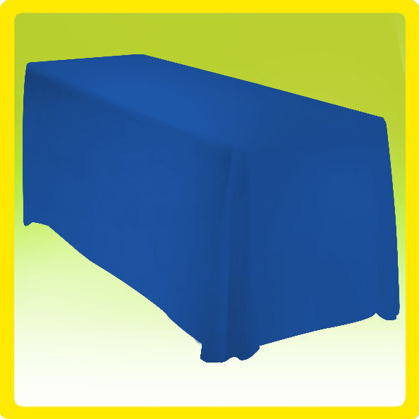 90x156 Tablecloth Table Cover Rectangle Polyester Wedding Banquet - ROYAL BLUE