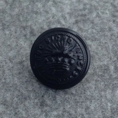 Knights Templar Uniform Button - Small - Black (KTB-Bsm)