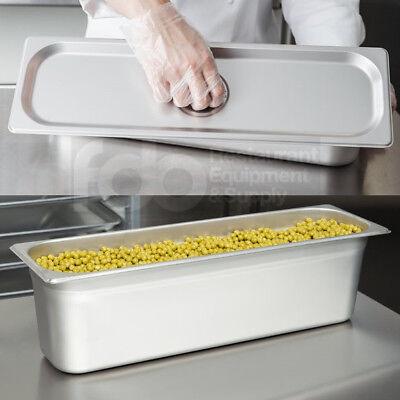 12 Size Long Pan W Lid Stainless Steel Steam Prep Table Food 6 Deep Half