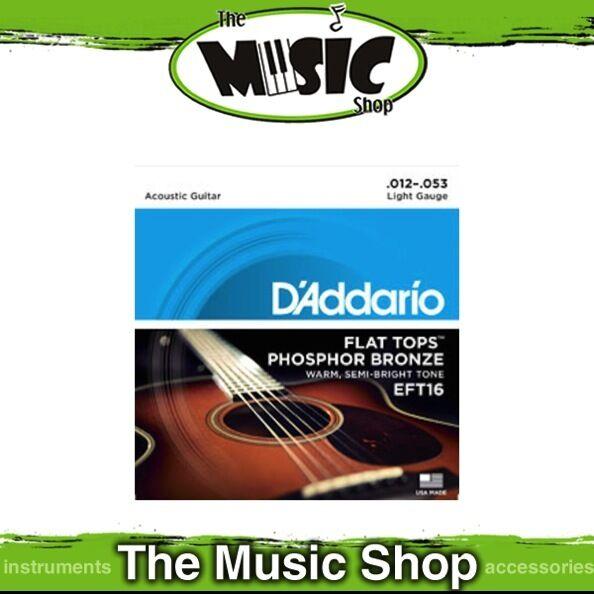 3 Sets Daddario Flat Tops P. Bronze Acoustic Guitar Strings - 12-53 Light EFT16