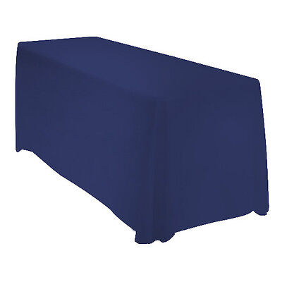 90x132 Rectangle Polyester Tablecloth Wedding Banquet Event - NAVY BLUE